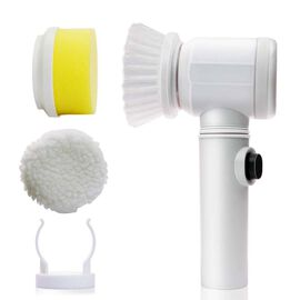 Magic Brush with Holder and 2 Brush Head (Size Body 19x9x6.5 Cm and Head 7 Cm) Colour White
