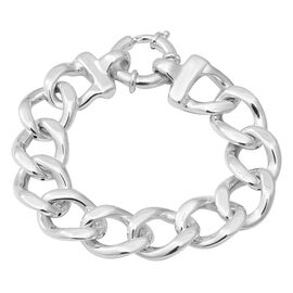Link Bracelet with Senorita Clasp in Thai Sterling Silver 22.57 Grams 8 Inch