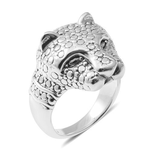 Sterling Silver Leopard Ring, Silver wt 5.15 Gms.