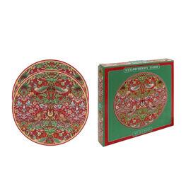 Set of 2 - Lesser & Pavey - Willam Morris Strawberry Thief Red Plates