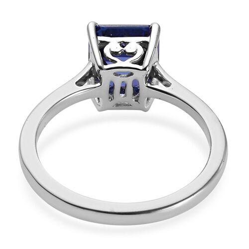 RHAPSODY 950 Platinum AAAA Tanzanite (Asscher Cut 7x7mm) Solitaire Ring 2.00 Ct.