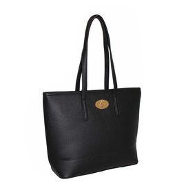 Design Look Classic Black Large Tote Handbag ( 29x27x11cm )