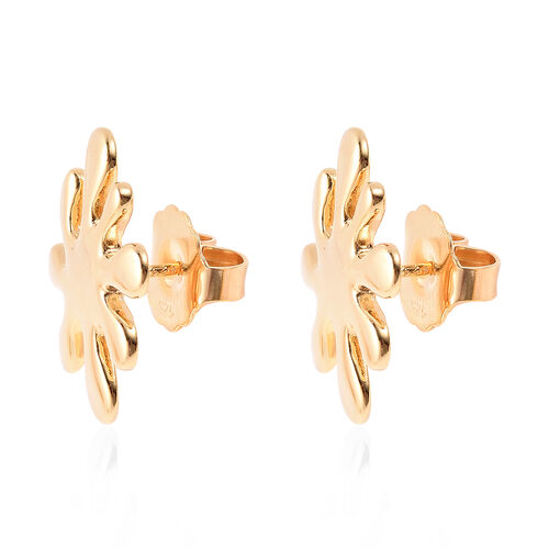 LucyQ - Splash Stud Earrings (with Push Back) in Yellow Gold Overlay Sterling Silver