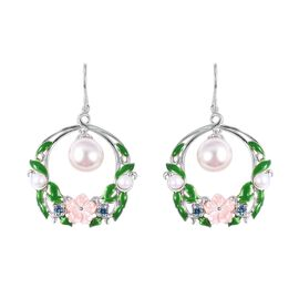 Multi Gem Stone Sterling Silver Earring  15.030  Ct.