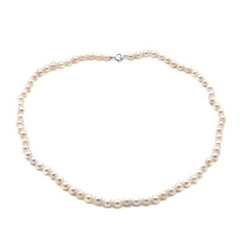 Close Out Deal-Japanese Akoya Pearl Necklace (Size 18) in Sterling Silver