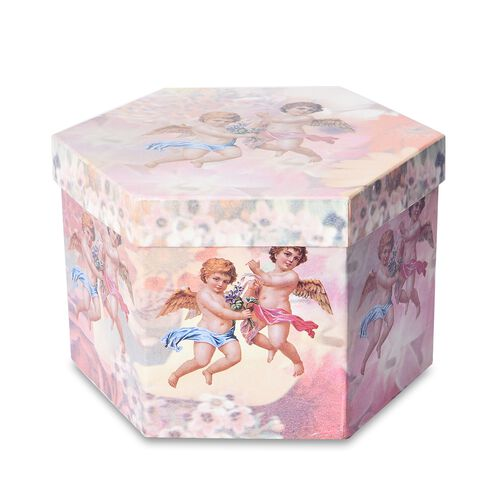 Set of 14 - Christmas Decoration Shatterproof Balls with Ribbons in the Gift Box (Dia 7.5 Cm) - Pink and Multi