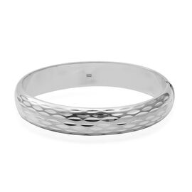 Designer Inspired-Sterling Silver Bangle (Size 7.5), Silver wt 25.25 Gms.