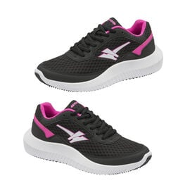 Gola Wexford Lace Up Ladies Trainer in Black and Fuchsia Colour