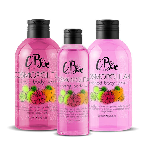 CB & CO: Cosmopolitan Cocktail Set (Incl. Body Tonic, Body Lotion & Body Wash)