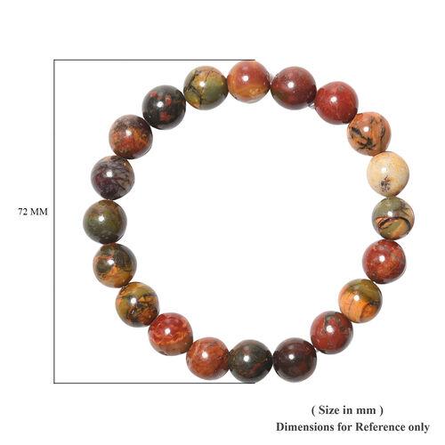 Picaso Jasper Beaded Stretchable Bracelet (Size 6.5) 143.00 Ct.
