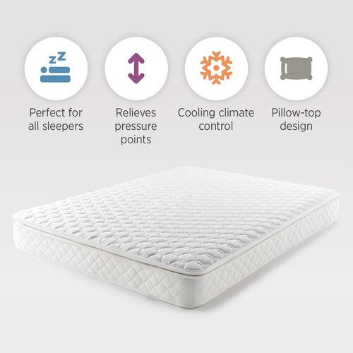 Serenity Pillowtop Pocket Spring Memory Foam Mattress with Vitafoam REVO Technology - Depth 24cm + Pillowtop (3cm) - Made in UK - Size King
