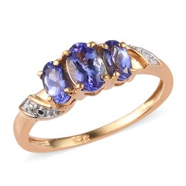Tanzanite Ring in 14K Gold Overlay Sterling Silver 1.00 Ct.