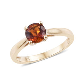 9K Yellow Gold AAA Madeira Citrine (Rnd) Solitaire Ring 0.750 Ct.