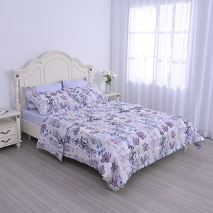 6 piece set of comforter fitted sheet 2 pillow case and 2 envelope pillow case 90gsm fabric is easy to care and durable 100% polyester fabric ensures shape and color fastening features