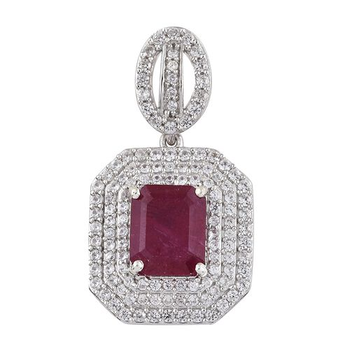 Limited Edition- Designer Inspired- Rare Size African Ruby (Oct 11X9 mm), Natural Cambodian Zircon P
