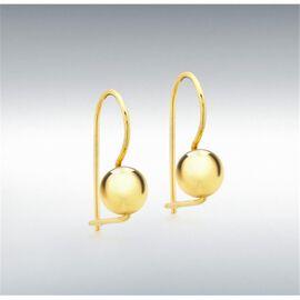 9K Yellow Gold Ball Drop Earrings