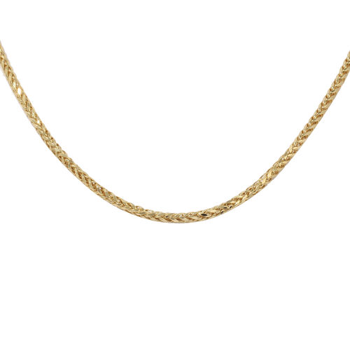 Italian Made 9K Yellow Gold Spiga Necklace (Size 36), Gold wt. 9.69 Gms