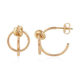 JCK Vegas Sublime Multi Hoop Earrings in 9K Gold 2.12 Grams with Push Back