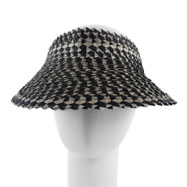 Bali Collection Palm Leaf Woven Hat with Adjustable Back (Size:56x35x50Cm) - Brown and Black