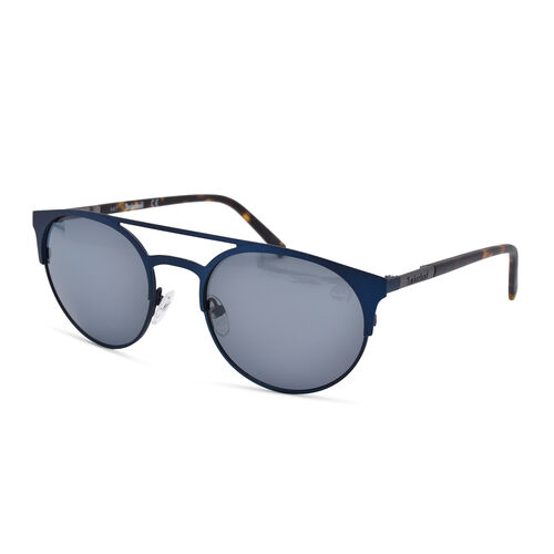 TIMBERLAND Blue Round Aviator Sunglasses with Blue Lenses