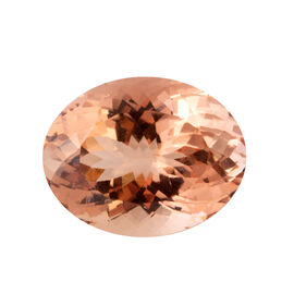 AAAA Moroppino Morganite Oval 23.4x18 Faceted 28.120 Ct.