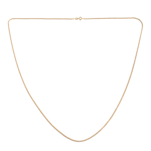 14K Gold Overlay Sterling Silver Criss Cross Sparkle Necklace (Size 30), Silver wt. 3.00 Gms.