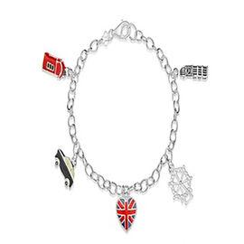 Charmes De Memoire Enamelled Charm Bracelet in Sterling Silver 7.5 Inch