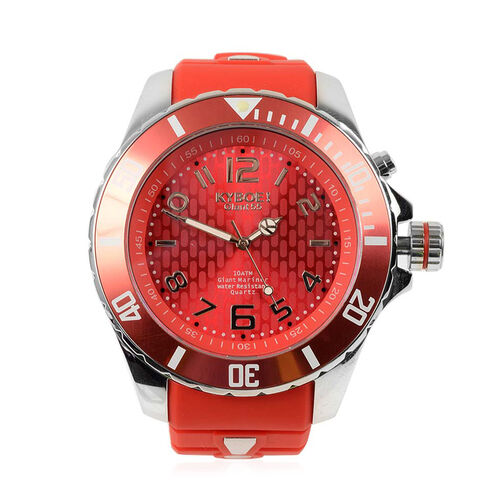 KYBOE Japanese Movement 100M Water Resistant Summer Romance LED Watch in Stainless Steel with Rotati