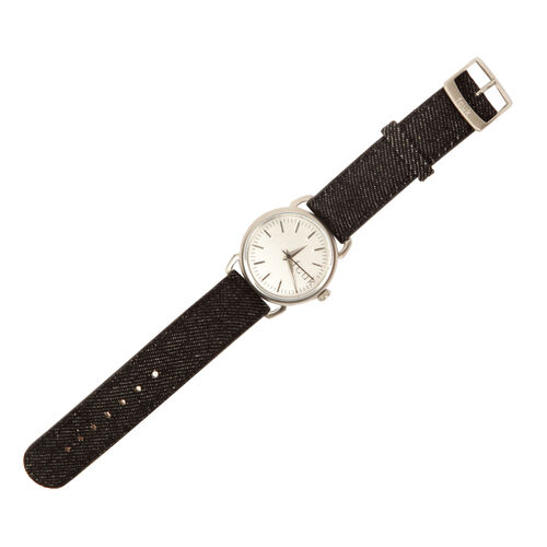 FRENCH CONNECTION Watch with Silver Dial and Black Strap