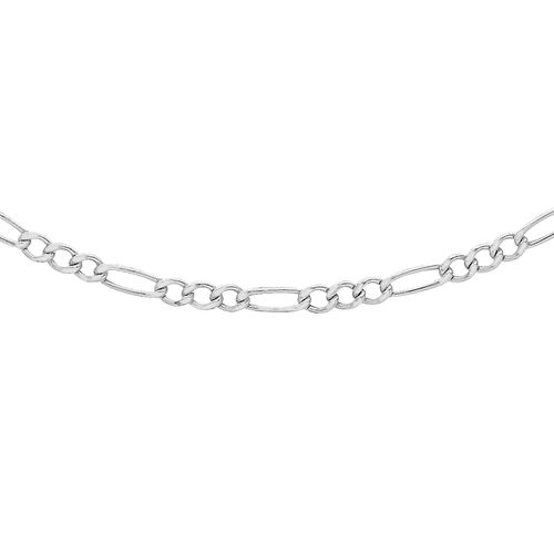 Sterling Silver Figaro Chain (Size 24), Silver wt 12.40 Gms