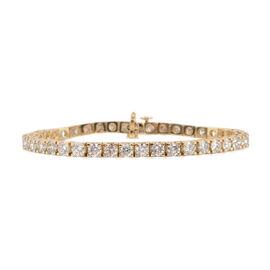 14K Yellow Gold SGL Certified Diamond (Rnd) (I1-I2/ G-H) Bracelet (Size 7) 10.00 Ct., Gold wt 16.70