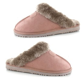 Ella Jill Supersoft Faux Fur Mule Slipper in Mink Colour