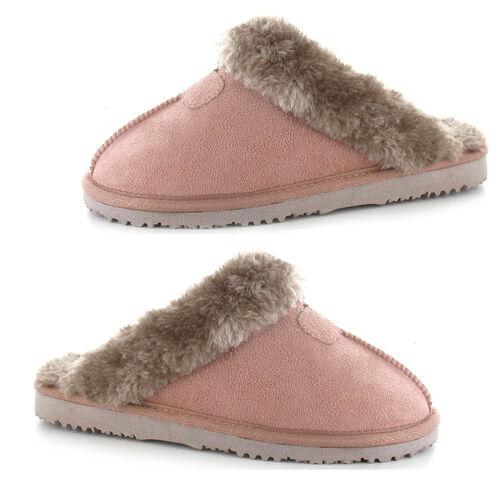 Ella Jill Supersoft Faux Fur Mule Slipper (Size 7) - Mink