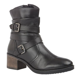 Lotus Black Leather Iowa Ankle Boots