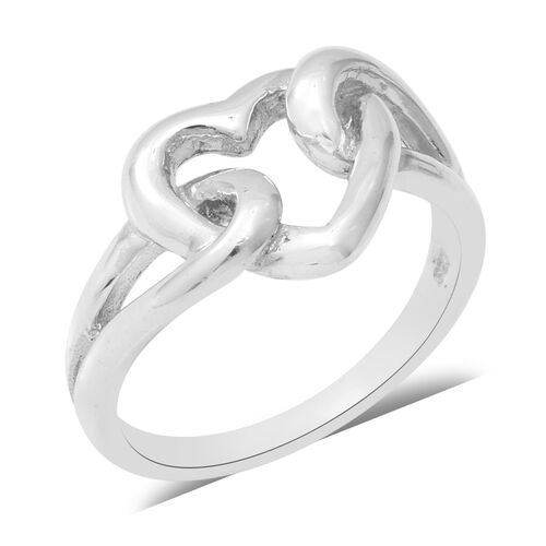 Heart Ring in Sterling Silver 4.70 Grams