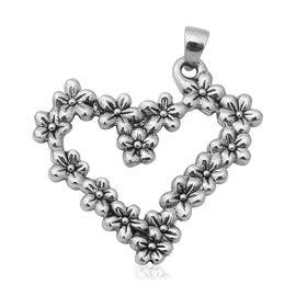 Thai Sterling Silver Heart Pendant