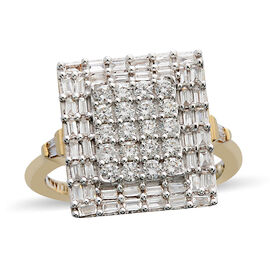ILIANA 18K Yellow Gold IGI Certified Diamond (Rnd) (SI/G-H) Ring 1.000 Ct, Gold wt 6.03 Gms.