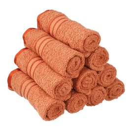 Set of 10 - Egyptian Cotton Terry Face Towel - Copper