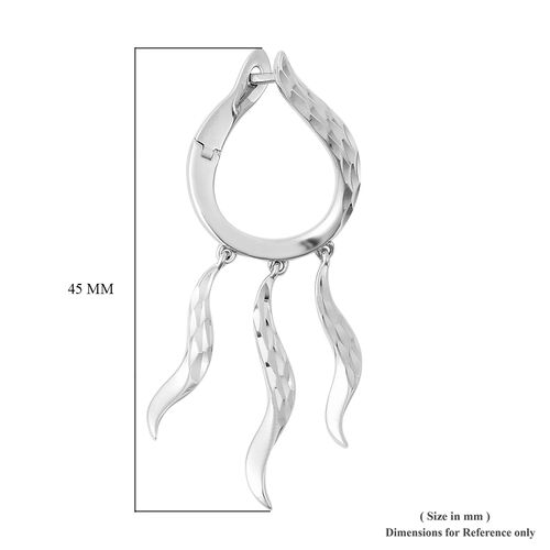 LucyQ - Rhodium Overlay Sterling Silver Earrings (with Clasp)