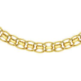 9K Yellow Gold Fancy Chain (Size 20), Gold wt 9.60 Gms