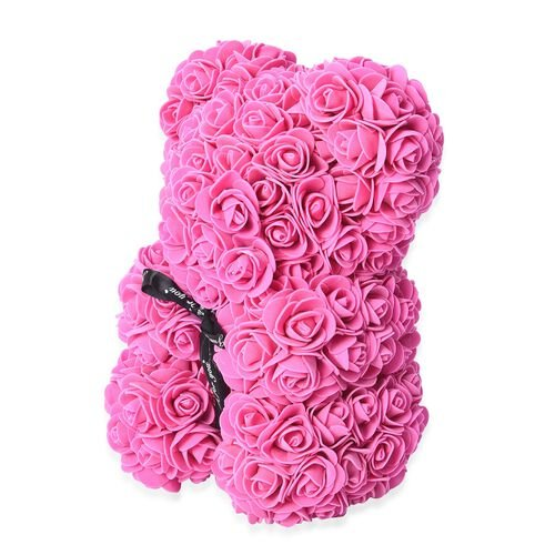 MP Lovely Rose Flower Bear with Bow Tie - Pink