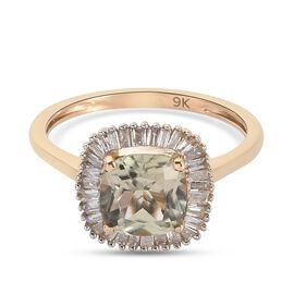 Collectors Edition- 9K Yellow Gold Turkizite and Diamond Ring 2.00 Ct.