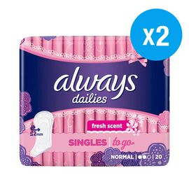 Always: Normal Dailies Singles 20s (Set of 2)