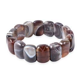 261 Ct Botswana Agate Stretchable Bracelet Size 7 Inch