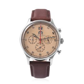 Super Auction -WILLIAM HUNT Japanese Movement Water Resistance Watch in Stainless Steel with Chocola