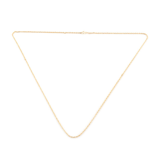 ILIANA 18K Yellow Gold Rope Chain (Size 20)