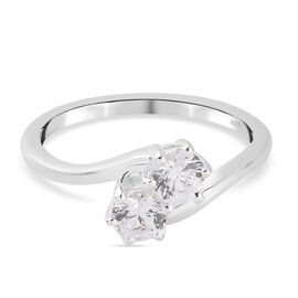 J Francis Sterling Silver Ring Made with SWAROVSKI ZIRCONIA 1.08 Ct.