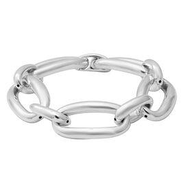 Oval Link Chain Bracelet in Sterling Silver 24.65 Grams 7.75 Inch