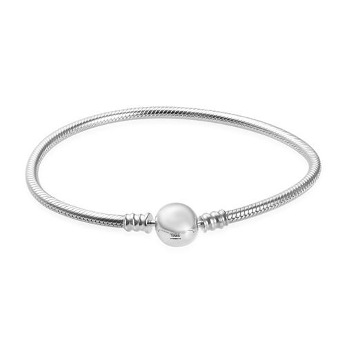 Charmes De Memoire Bracelet in Platinum Plated Sterling Silver 15.50 Grams 7.5 Inch