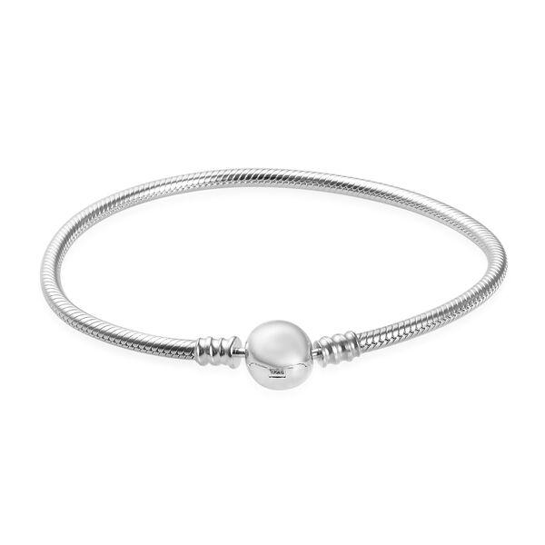 Charmes De Memoire Bracelet in Platinum Plated Sterling Silver 15.50 Grams 7.5 Inch